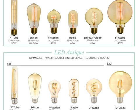 Led Bulbs And Antique Modern Low Energy Light