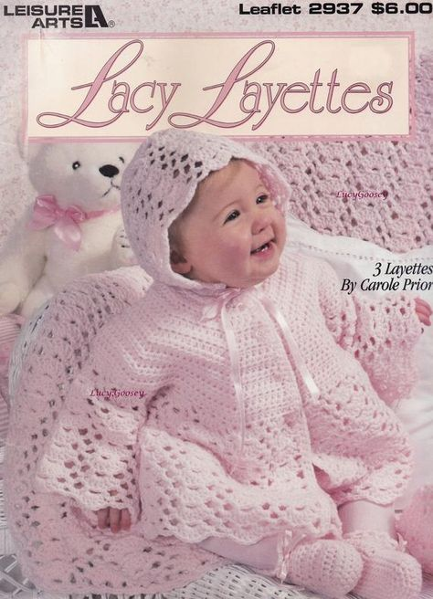 Leisure Arts Knit Layettes for Little Darlings 4 Layettes