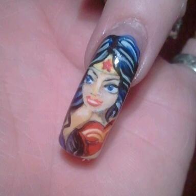 Wonder Woman By Ivystar Nail Art Gallery Nailartgalleryilsmag