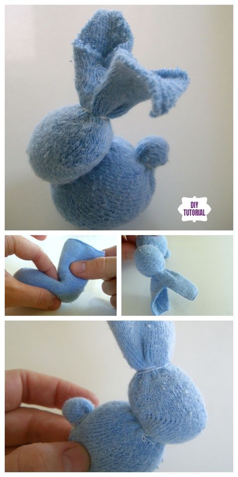 Sew Sock + Cute Sock Bunny Projects Round Up - Sewing Sock Bunnies . - Sew Sock + Cute Sock Bunny Projects Round Up – Sewing Socks Bunny DIY Tutorials Roun - Sock Crafts, Bunny Crafts, Easter Crafts For Kids, Easy Crafts, Easter Decor, Easter Centerpiece, Toddler Crafts, Sock Bunny, Bunny Images