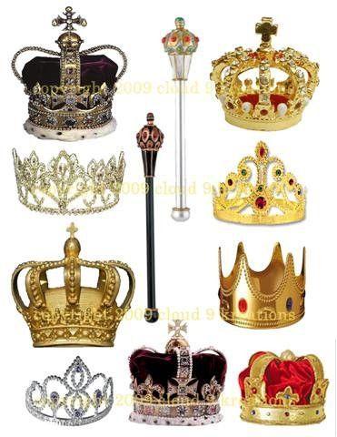 Crowns Sceptors Printable Digital Sheet Af77 Royal Crown Jewels Royal Crowns Crown