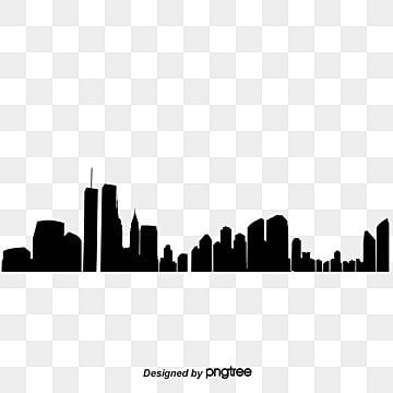 City Buildings Silhouettes Vector Material City Clipart House Building Png Transparent Clipart Image And Psd File For Free Download Building Silhouette Silhouette Vector City Sketch