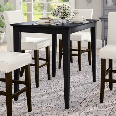 Alcott Hill Glenside Counter Height Solid Wood Dining Table