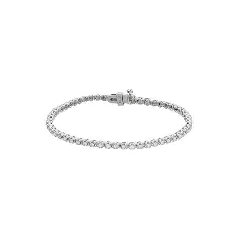 10k White Gold 1 Carat T W Diamond Tennis Bracelet Bracelets White Gold 1 Carat