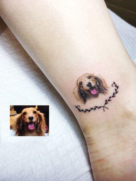 Dog Tattoo Ideas Memorial Small Dog Tattoo Ideas Small Dog Tattoos Dog Tattoos Animal Tattoos
