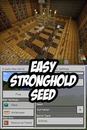 Easy Minecraft Pe Stronghold Seed Burndown Rumah Minecraft Gambar