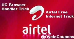 Airtel Free Internet UC Browser Handler Trick for Android