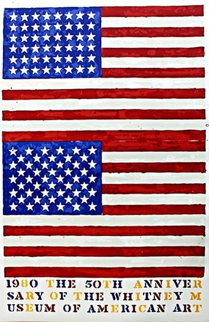 Jasper Johns 50th Anniversary Of The Whitney Museum Of American Art In New York City Two Flags 1979 Available For Sale Artsy Whitney Museum Jasper Johns American Art