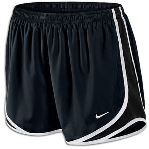 Lady Foot Locker Nike Tempo Shorts in black/volt/matte silver 31.99