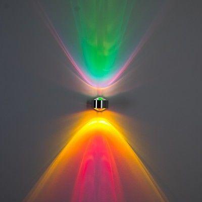 Design Wohn Zimmer Leuchten Flur Strahler Wand Lampen Wandleuchte grün magenta