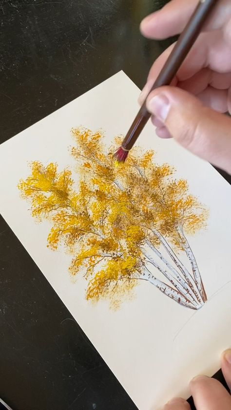 It can be fun and easy painting trees. I find it therapeutic! 🎨 Click the link to see more art inspiration on boelterdesignco.com