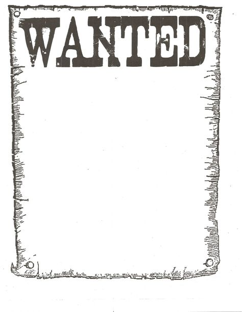 Western Wanted Poster Chart Fondos Pinterest Marcos, Granjas - free wanted poster template download