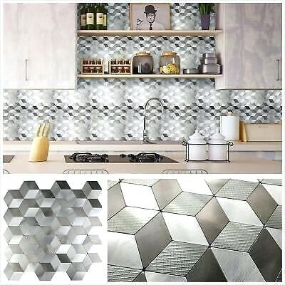 Stainless Steel Peel And Stick Backsplash Details About Self
