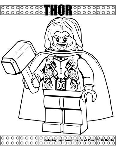 Coloring Page Thor True North Bricks Lego Coloring Pages Lego Coloring Marvel Coloring