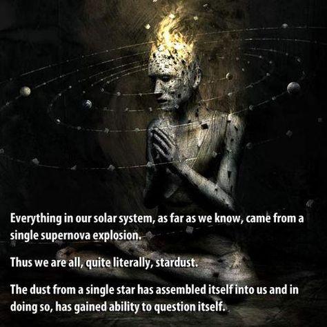 Luminous beings are we