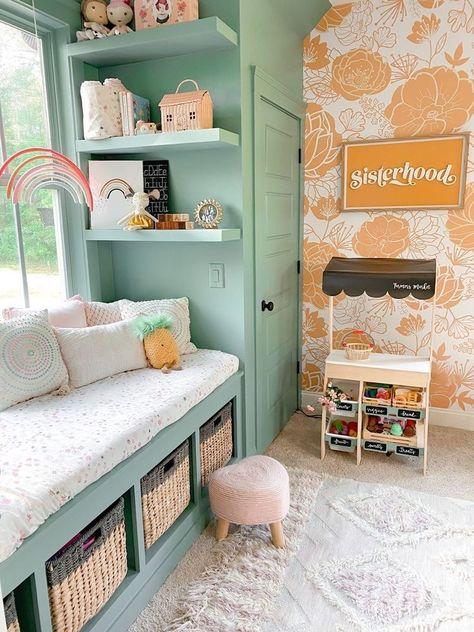 Small Playroom, Baby Playroom, Playroom Design, Playroom Decor, Kids Room Design, Playroom Ideas, Sunroom Playroom, Playroom Organization, Kids Bedroom Ideas
