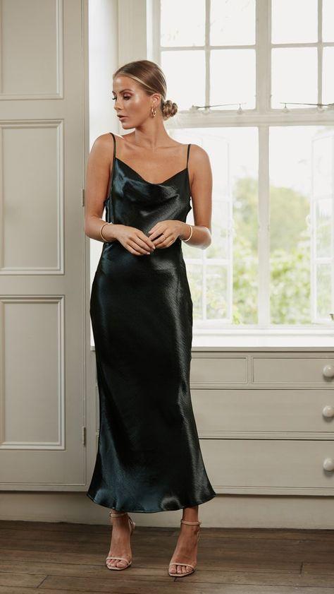 Pretty Lavish – Keisha Slip Dress - Green