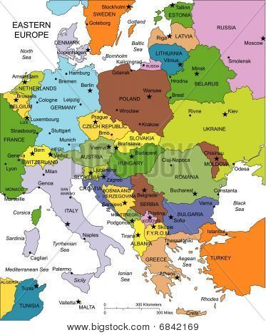 Map Of Eastern Europe Google Search Maps Pinterest - Europe map with cities and countries