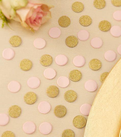 "Streukonfetti ""Pastel Perfection"" - rosa/gold- 14 g | Konfetti & Streuteile | Dekoration | Bridal Shower | My Bridal Shower"