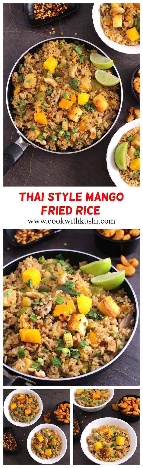 THAI STYLE MANGO FRIED RICE - VEGAN & VEGETARIAN RECIPE FOR LUNCH OR DINNER