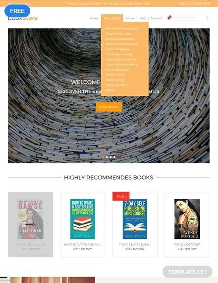 Free Book Store Html5 Css3 Website Templates Website Template