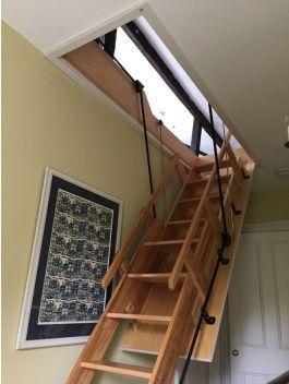 Loft Centre Windsor Electric Sliding Wooden Stairway In 2020 Attic Rooms Attic Renovation Loft