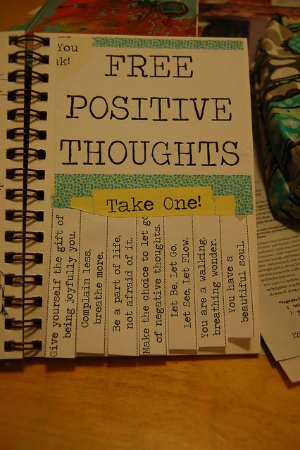 Let's pass around the positive thoughts -- the world needs more of them!!!  Positive Thoughts by sharna11, via Flickr