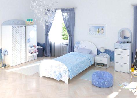 Flocons - Décorée de flocons de neige, la chambre enfant Flocons fera de la chambre un joli paradis hivernal pour votre petite reine !