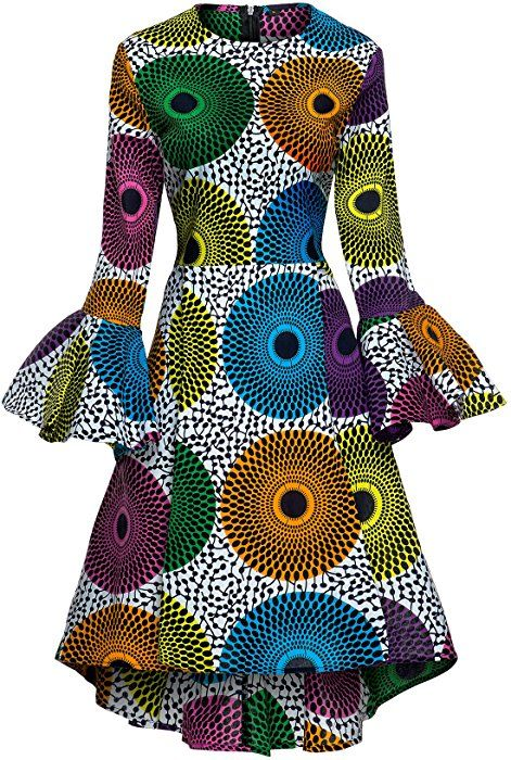 Shenbolen Women African Print Dresses Autumn And Winter Long