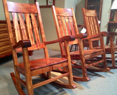 KOA Rocking Chairs On Parade. At The Martin U0026 MacArthur Furniture Workshop  In Honolulu, HI | Gorgeous Koa Furniture | Pinterest | Rocking Chairs