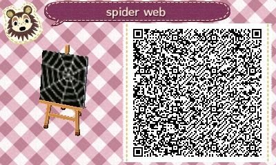 Crossingcreep Here S The Qr Code For The Spider Web Pattern On My Furniture Use For All Ur Spoo Animal Crossing Qr Qr Codes Animal Crossing Animal Crossing