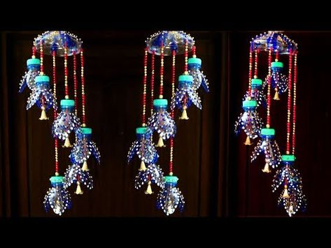 Plastic bottle wind chime - How to recycle plastic bottle - Plastic bottle craft - Best out of waste
