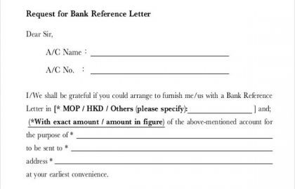 Sample Certificate Employment Hotel Or 8 Sample Bank Reference