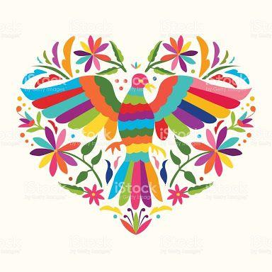 Resultado De Imagen Para Mexican Heart Bordado Otomi Bordado Mexicano Patrones Corazones Bordados