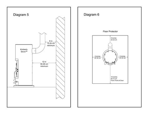 kimberly small wood burning stove installation diagrams 5 6 heat rh pinterest ca