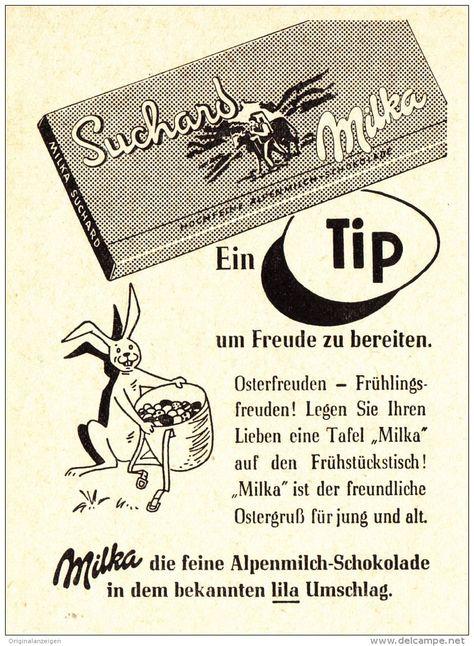 Original Werbung Anzeige 1957 Suchard Milka Schokolade Ca 65