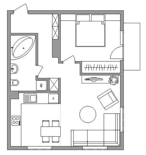 Apartment Layout One 55 Ideas Apartmentfloorplans In 2020 Apartment Layout House Floor Plans Small House Plans