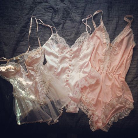 Delicate pink bodysuits