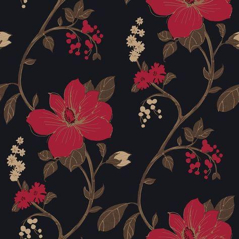 Similiar Black And Red Flower Wallpaper Keywords | Черные ...