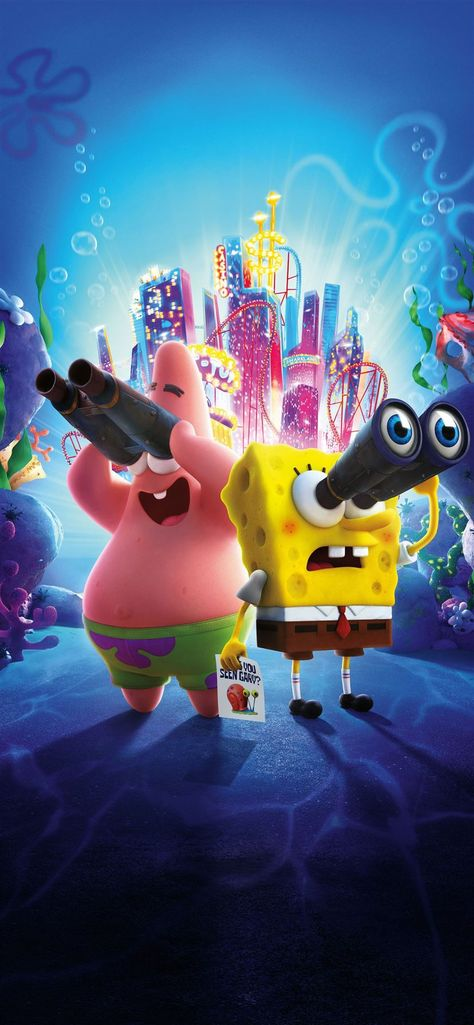 the spongebob movie sponge on the run 8k iPhone 11 Wallpapers