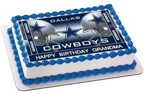 Dallas Cowboys 2 Edible Birthday Cake Topper OR Cupcake Topper ...