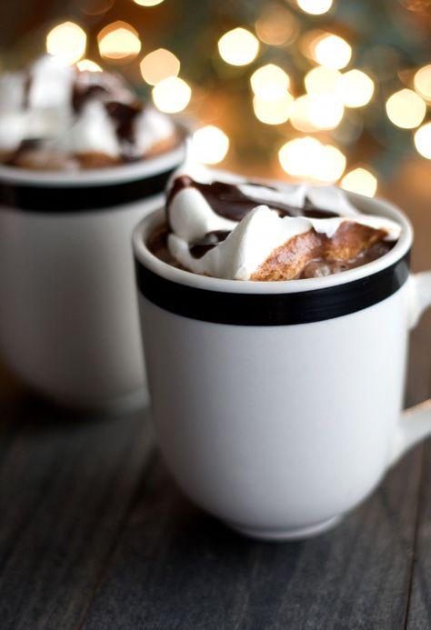 chocolate caliente de crema cacahuete