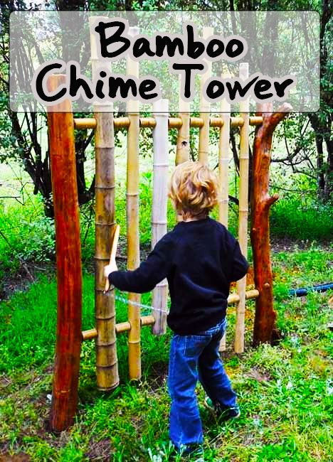 Bamboo chime tower