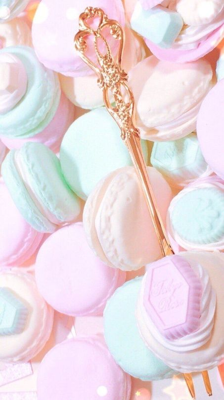 Wallpaper Iphone Android Background Followme Macaroon Wallpaper Pastel Macarons Pastel Desserts