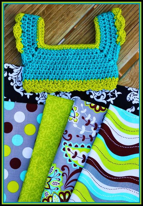 This Housewife Life: Crochet + Fabric = AWESOME ~FREE PATTERN~ 21.5 inch chest
