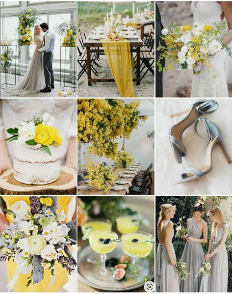 Get inspired for your destination wedding in Greece with this mood board featuring pantone 2021 colours, Iluminating and Ultimate Grey. We show you how to add these colours in subtle touches to your wedding day pallete.