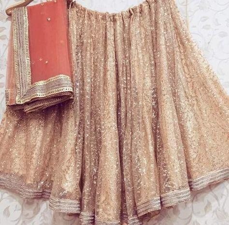 Gorgeous Gold Shimmer Net Bollywood Lehenga Choli Online ,Indian Dresses - 4