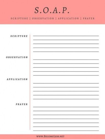 How To Organize Notes Notebooks Free Printable 28 Ideas For 2019 Soap Bible Study Method Soap Bible Study Bible Study Worksheet