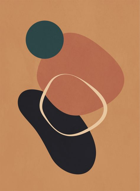 Abstract Shapes 43 Framed Art Print
