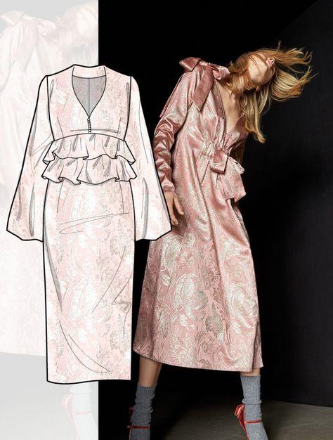 Discover the new FW 2018-19 DRESS development designs by 5forecaStore Fashion trend forecasting. #FashionTrendsAnalysis